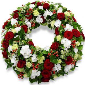 Couronne et croix de fleurs deuil lyon for Livraison fleurs lyon